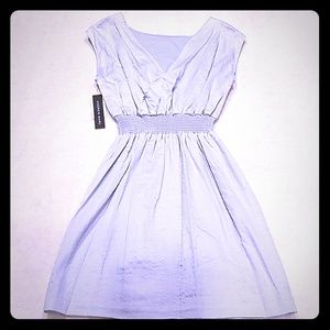 Andrew Marc baby blue/silver dress